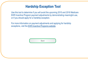 Interactive Hardship Exception Tool
